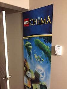 Lego Chima hanging banner picture art flag canvas display store