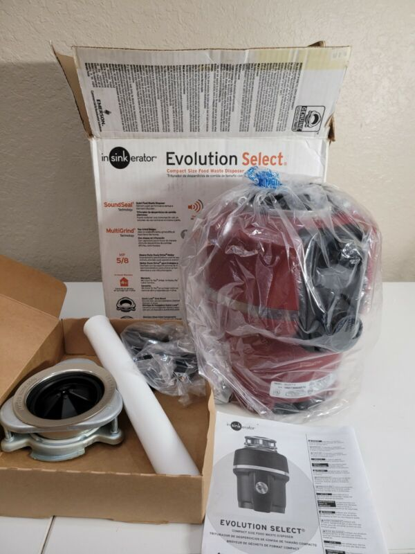NEW!!  InSinkErator Evolution Select-2 5/8 HP  Feed Garbage Disposal