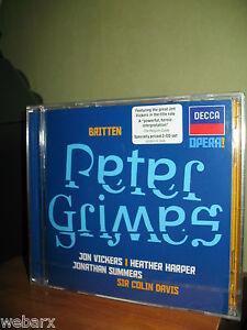 BRITTEN-PETER-GRIMES-2-CD-NUOVO-SIGILLATO-JON-VICKERS-COLIN-DAVIS-DECCA