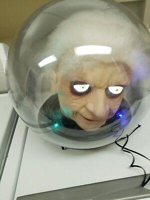 gemmy spirit ball dr shivers gypsy fortune teller animated halloween prop (Gemmy Halloween Spirit Ball)