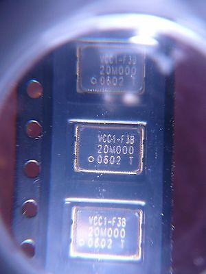 Vectron Vcc1-f3b-20m00 Crystal Oscillator 20mhz 3.3v Cmos Smd New 2pkg
