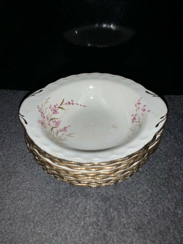 Pope Gosser China Valerie Bowls Vintage Made In USA Set Lot Of 6 #57 Used