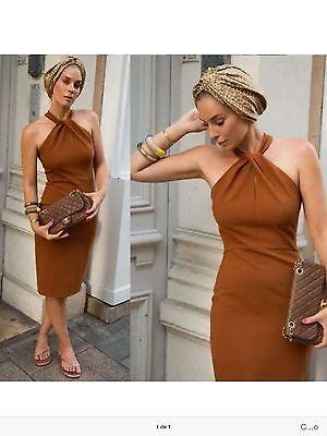 ZARA WOMAN ETUIKLEID S M L CAMEL BRAUN PENCIL TUBE DRESS CARAMELL online kaufen