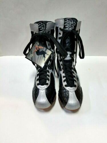 Frontline BF4 Adult Size 5M (fits 6M) Black/Silver High Top Dance Sneakers