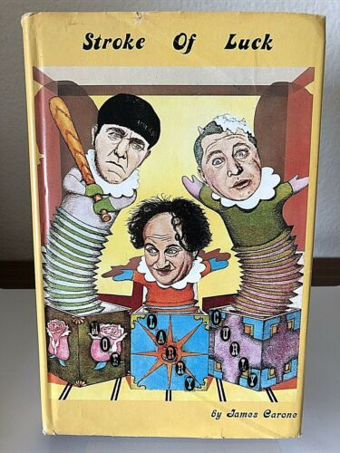 THREE STOOGES Larry Fine rare 1973 autobiography STROKE OF LUCK in DJ photos
