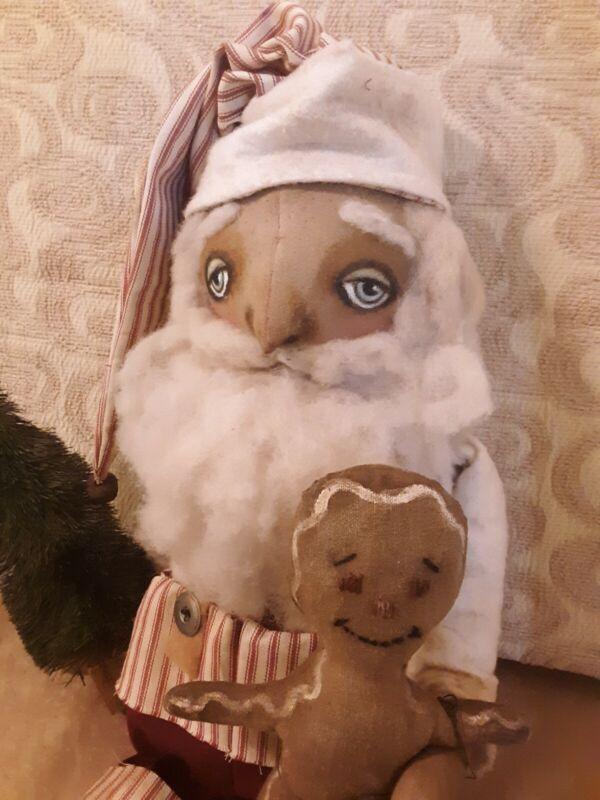 Primitive Handmade Folk Art Santa
