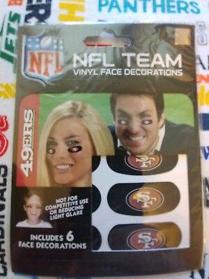 NFL 6 Eye Black Strip Stickers San Francisco 49ers (Face/Body Decorations)3pr](49ers Decorations)