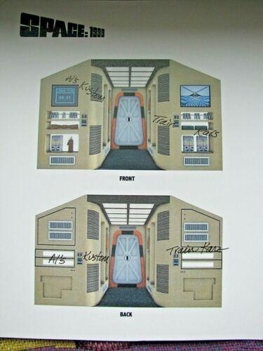 Custom Designed  Cardstock BULKHEADS for SPACE 1999 Mattel Eagle 1 as shown