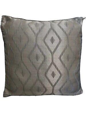 "Chelsea Jacquard Cushion Cover 22"" x 22"" 55cm x 55cm Metallic Grey"