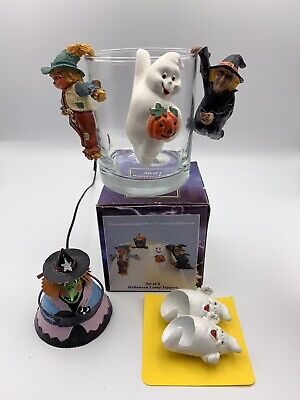 Hallmark Halloween Lamp Cup Mug Toppers, plus Candle Snuffer andToppers