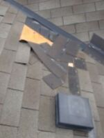 Shingles blown off roof