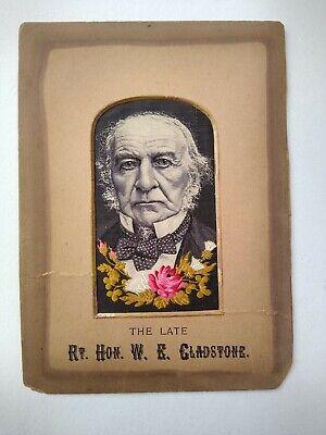 Antique Stevengraph of The Late Rt. Hon. W. E. Gladstone