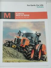 KUBOTA MGX IV SERIE Traktoren Prospekt 9192