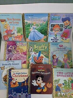 Lot of 10 Little Golden Books - Disney; Halloween; Christmas…