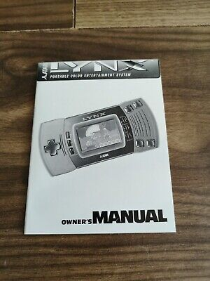 VGC Atari Lynx Owners Manual Booklet