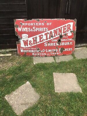 vintage enamel sign