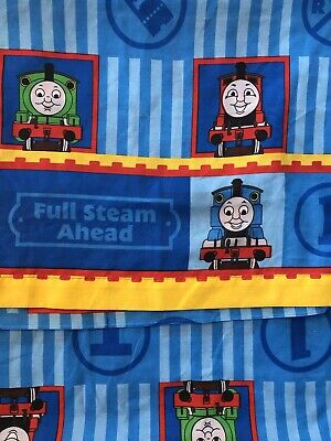 Vintage Thomas the Tank Engine Train Twin Flat Sheet Dan River CUTTER