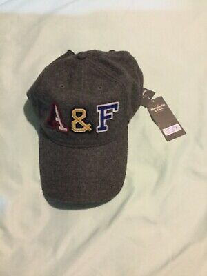 MENS ABERCROMBIE & FITCH, MENS, HAT-CAP, GRAY, ONE SIZE, FREE S/P, (J51)
