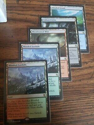 MTG Land Lot. Commander staples. EDH lands. Fetch Lands lot#2