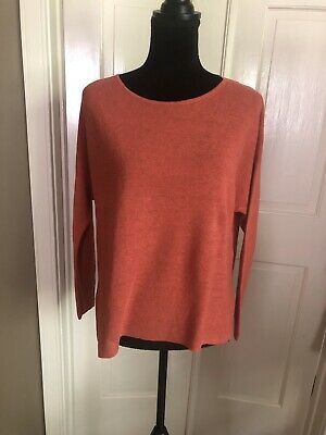 Eileen Fisher Organic Linen Sweater Coral