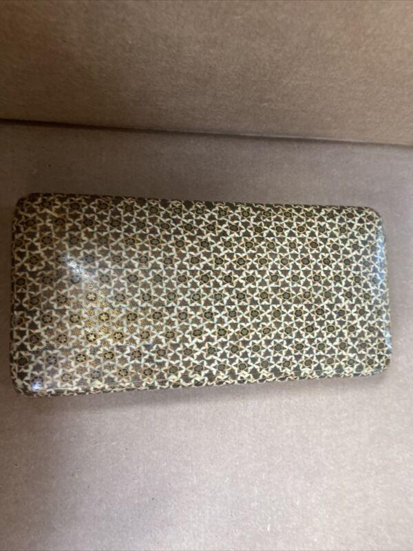 Sadeli Micro Mosaic Anglo Indian Persian Khatam Style Trinket Box