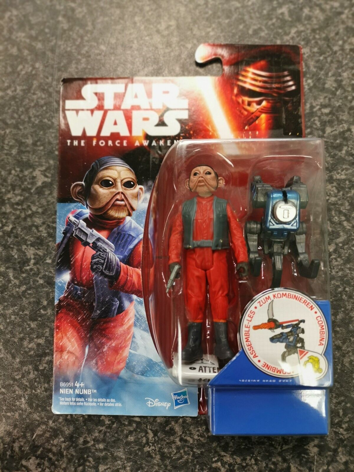 "NEW SEALED Figurine STAR WARS /""THE FORCE AWAKENS/"" NIEN NUNB"