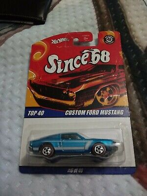 Mattel Hot Wheels 2007 SINCE '68 Custom Ford Mustang 40th ANNIVERSARY Top 40