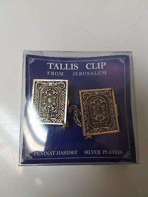 Star Tallit Clip (Silver Plate STAR OF DAVID Tallit Clip Jewish Israel ZION Talis Tallis)