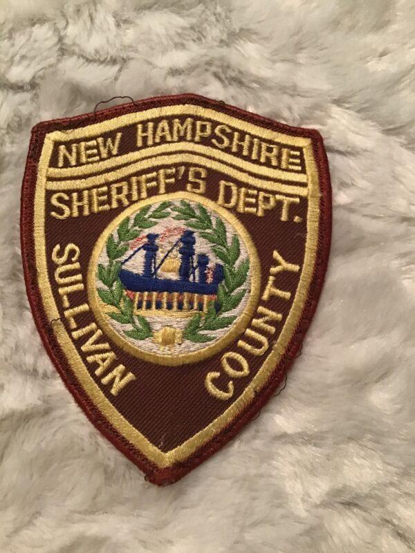 Vtg Sullivan County New Hampshire Sheriff Dept. Patch (a85)