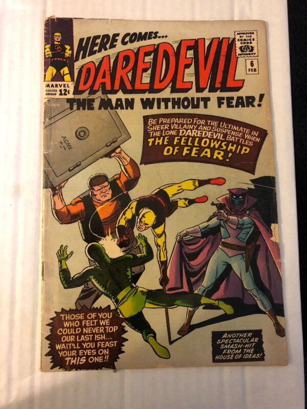 Here Comes Daredevil #6, (1964, Marvel): Trapped by the Fellowship of Fear!