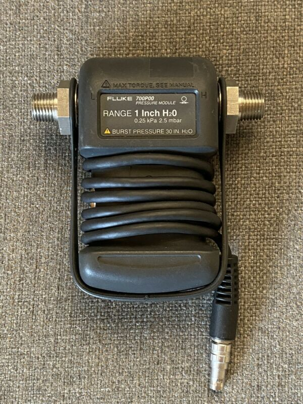 FLUKE 700P00 Differential Pressure Module - Range 1 In. H2O Excellent Condition!