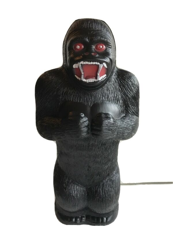 "Blow Mold Plastic King Kong Gorilla Bank Union Products 17"" Renzi Mold Painted"
