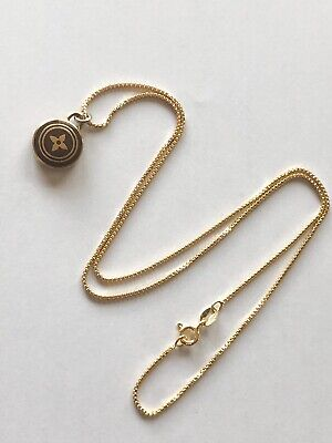 18k Gold over Sterling Silver Necklace that comes with a Louis Vuitton Pendent Louis Vuitton Pendant