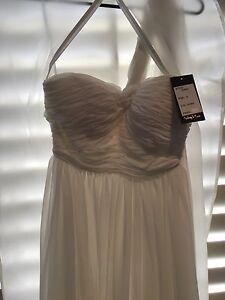 White formal/bridesmaid/wedding dress size 8 brand new Mount Warren Park Logan Area Preview