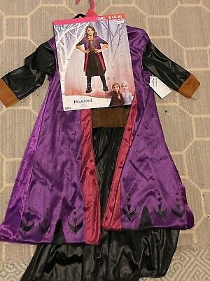 NEW NWT Anna Frozen 2 Play Dress Up Costume Disney Child Small 4-6