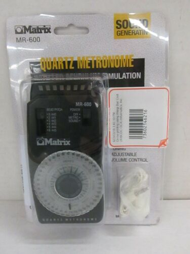 MATRIX MR-600 QUARTZ METRONOME WITH LED PENDULUM SIMULATION- NT 5884