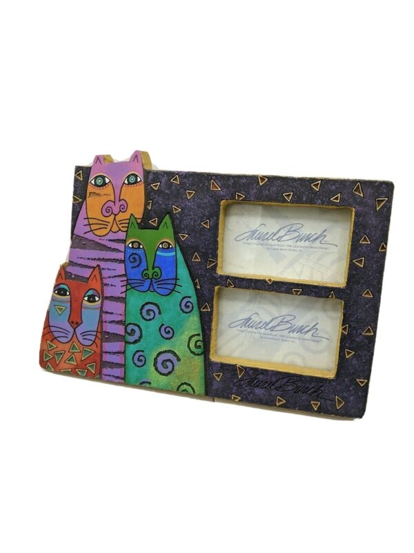 Laurel Burch Cats Picture Frame Double Large
