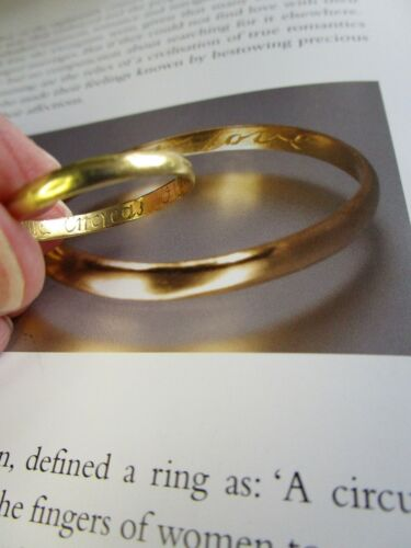 Antique Georgian Gold Inscribed Ring