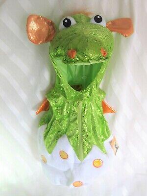 Kids Boys Girls HALLOWEEN Costume Shimmery Green Alligator Crocodile Sz 3T -NEW