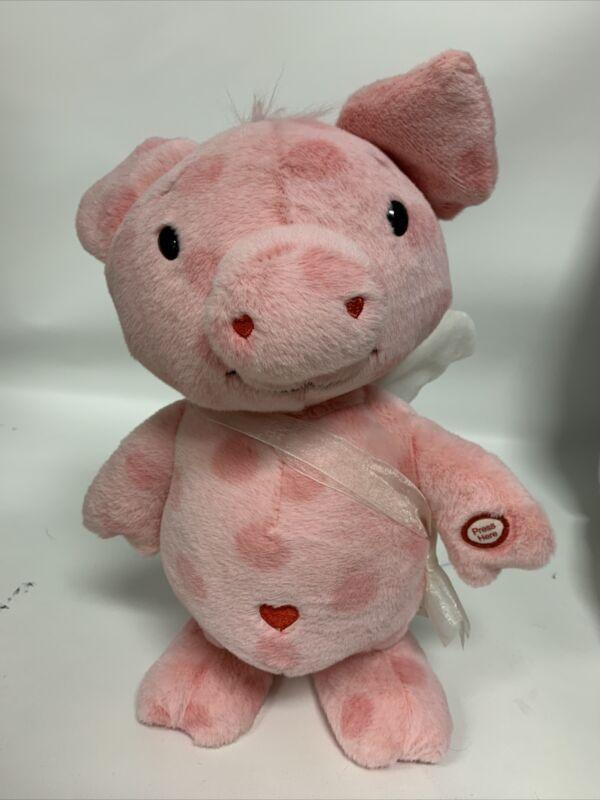 "Hallmark Cupig Pink Pig Plush Animated Valentines Dance Sings Cupid Shuffle 9"""