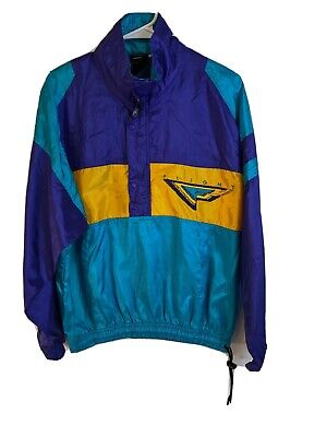 VTG Nike Flight Windbreaker Jacket Retro Neon 80's 90's Air Jordan sz S