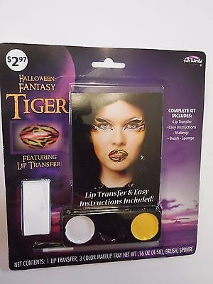 Fantasy Tiger Face Makeup Lip Transfer Costume Trick or Treat Halloween Costume  - Halloween Tiger Face Makeup