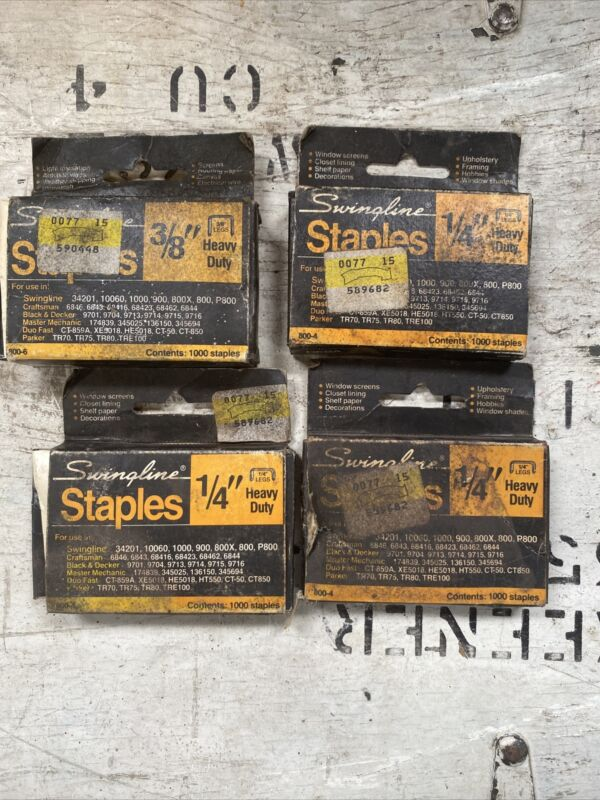 Swingline Staples 3/8-Inch & 1/4-in Heavy Duty Staples No. 800-6 Partially used