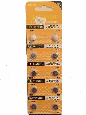 10X AG3 L736 RW87 LR41 GP192 V3GA Alkaline Battery Cell Button Batteries 2019