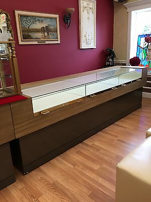 Three Glass display cases For A Retail Store Modern Design Marc Ecko Brand