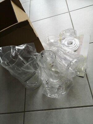 von Pacabahce Botanica Set • Klarglas glatt • Zylinderform Vasen Glasvase 6 Stk