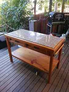 Recycled timber & granite kitchen island Barden Ridge Sutherland Area Preview