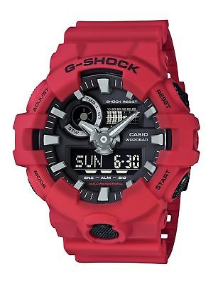 Купить Casio Men's 'G SHOCK' Quartz Resin Casual Watch, Color:Red (Model: GA-700-4ACR)