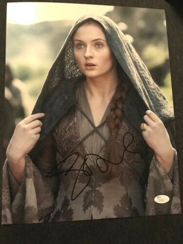 Game of Thrones Sophie Turner Autographed Signed 11x14 Photo JSA COA H
