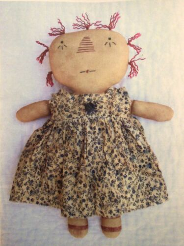 PATTERN Primitive Easy to Make Simple Raggedy Ann Doll UNCUT Chestnut Junction